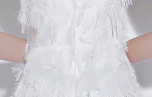 ชุดราตรียาวออกงานกลางคืน สีขาว