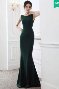 ชุดราตรียาว สีเขียว